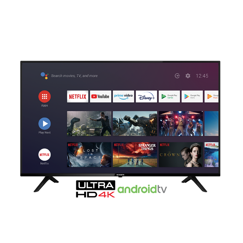 Skyworth 55'' 4K UHD Smart Android TV powered by Google
