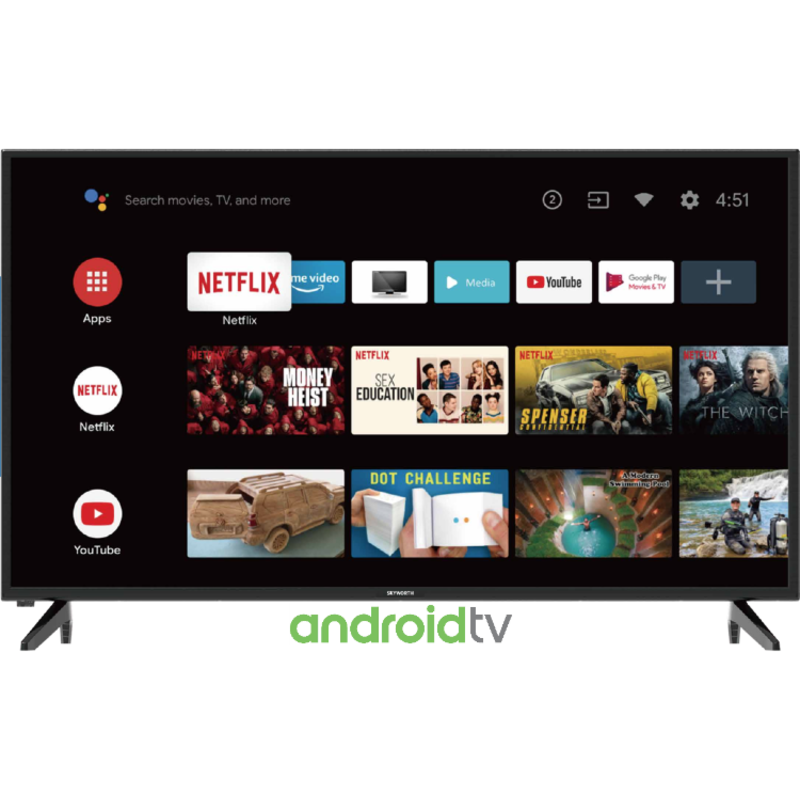 Skyworth 42'' FHD  Smart Android TV powered by Google