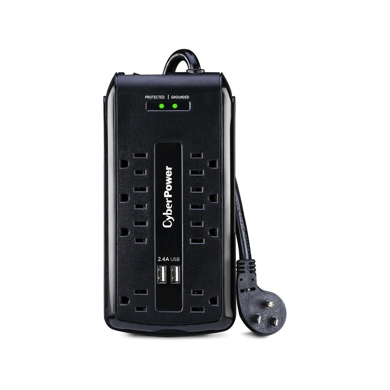 8 Outlet w/2x USB Surge Protector