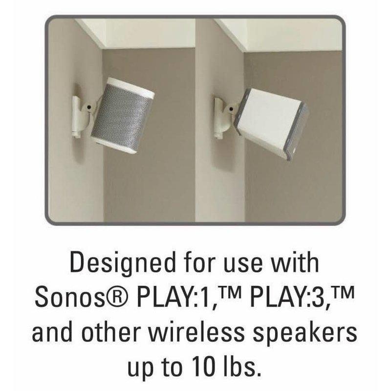 Tilt / Swivel Wall Mount for WiFi speakers - White (ea.)