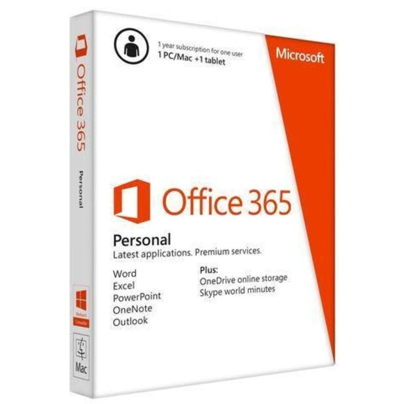 Office 365 Personal (1) PC or Mac + (1) Tablet (1yr)