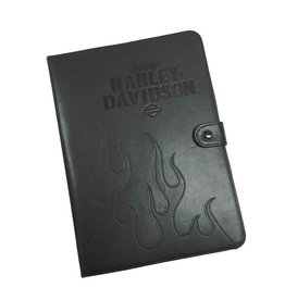 Harley Davidson Universal Folio Tablet Case, Embroidered Flames, 9-10 inch