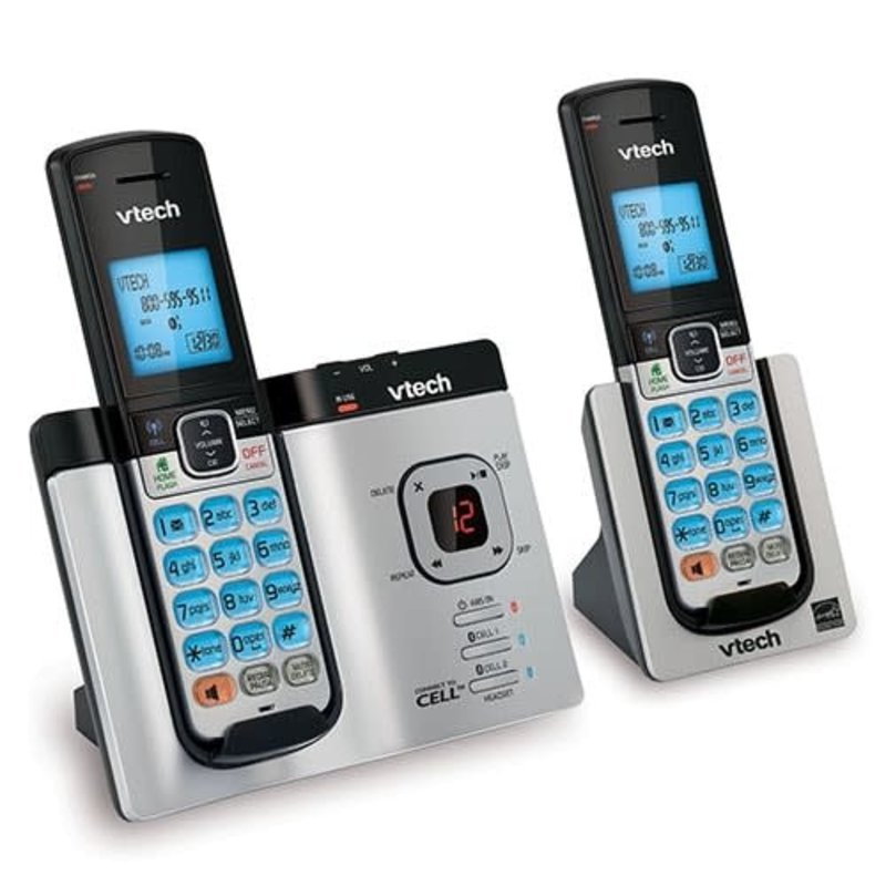 2 Handset Cordless Phone Sys w/Link to Cell