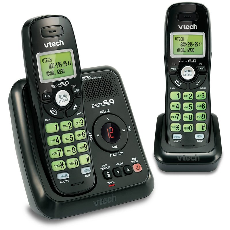 Cordless Phone w/Ans - 2 Handsets