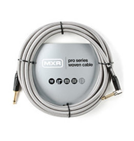 MXR DCIW18R - 18Ft Pro Woven Guitar Cable w/90 deg.
