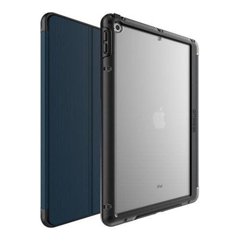 Symmetry Folio Case iPad 10.2 (7th/8th Gen) Black/Blue (Coastal Evening)