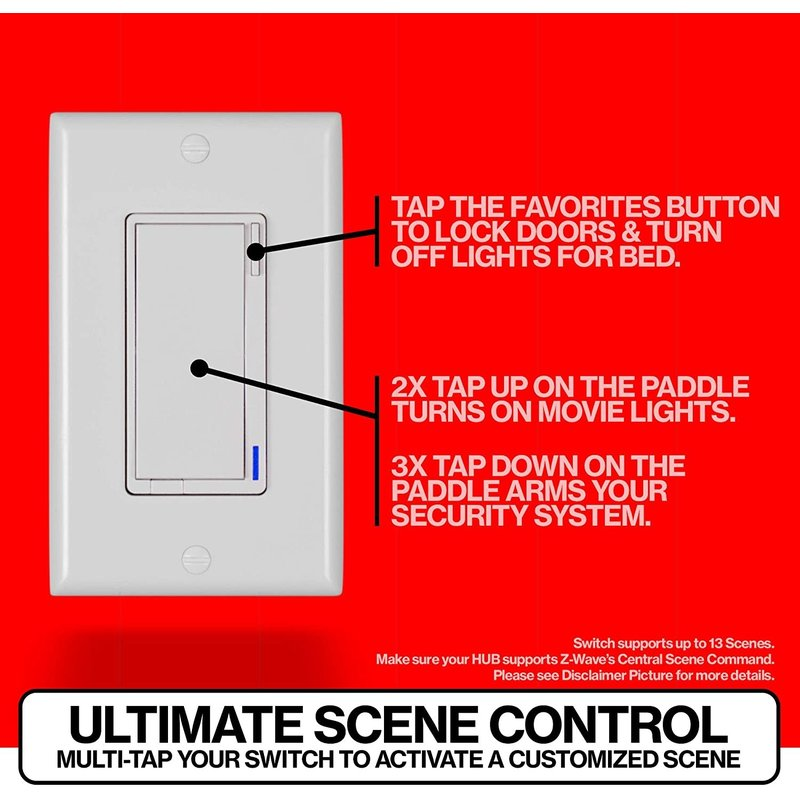 Z-Wave On Off Smart Switch (Red Series)