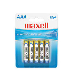 Maxell AAA 10 Pack of Batteries