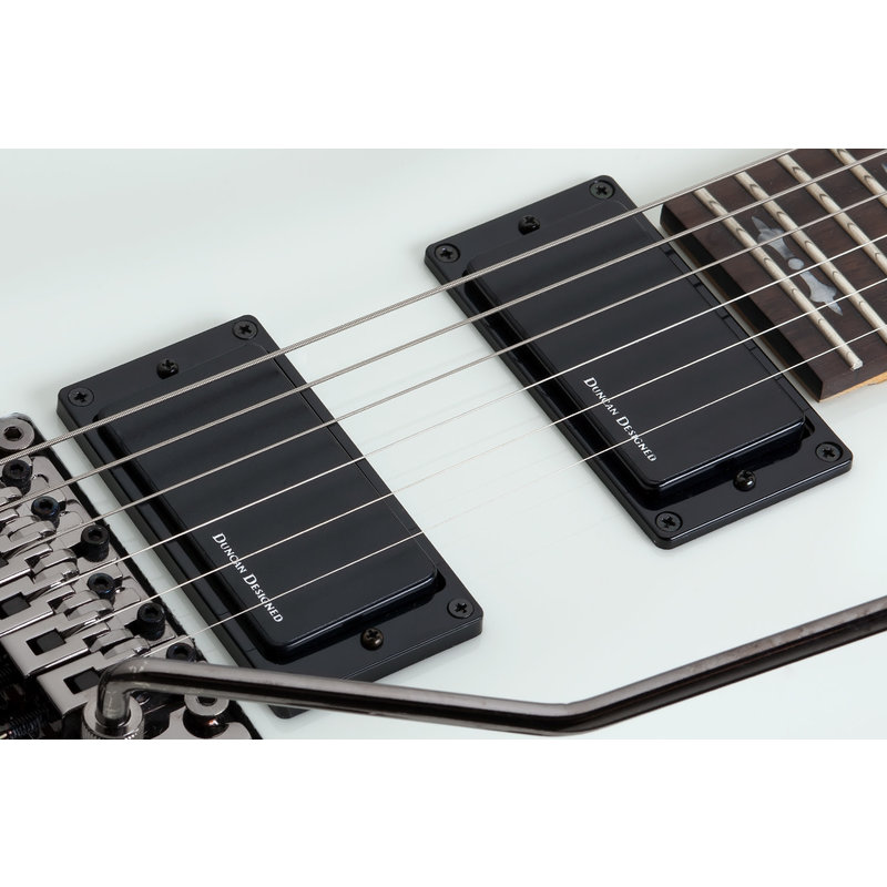Demon 6 FR Electric Guitar With Duncan Designed in Vintage White