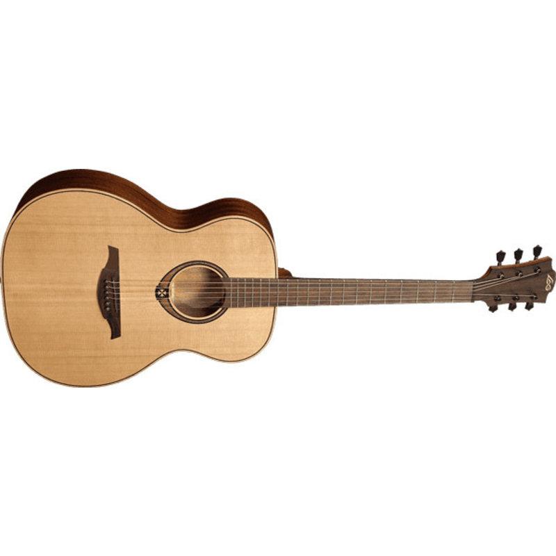 LAG Tramontane auditorium red cedar Guitar - khaya
