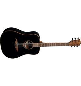 LAG T118D-BLK Dreadnought Acoustic Guitar - black