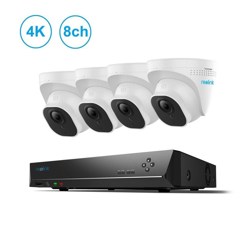8-Channel 4 Camera 4K PoE NVR Kit