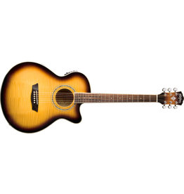 Washburn EA15ATB Festival Series Mini Jumbo Cutaway Acoustic Electric Guitar