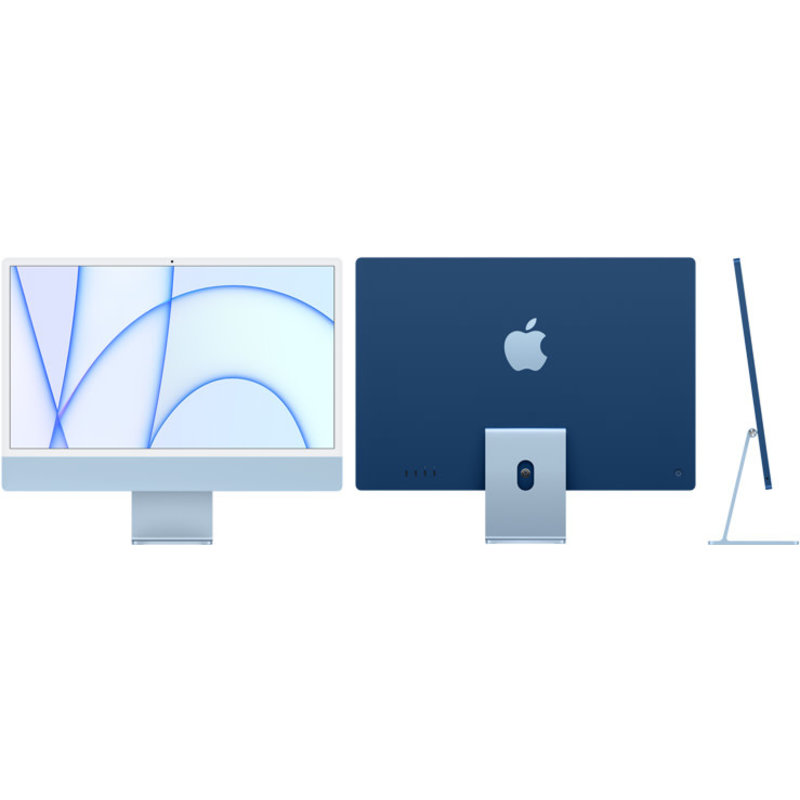 iMac 24-Inch M1 8-Core GPU, 8GB Ram, 256GB SSD w/ Touch ID KB