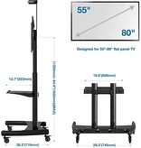 """Mobile TV Cart with Wheels for 55"""" - 80"""" Inch LCD LED OLED Screens up to 200lbs"""
