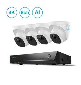 Reolink 8-Channel 4 Camera 4K AI PoE NVR Kit