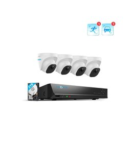 Reolink 8-Channel 4 Camera 5MP AI PoE NVR Kit