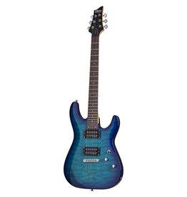 Schecter C6 Plus  Solid-Body Electric Guitar - Ocean Burst Blue