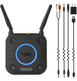 Bluetooth Transmitter with Volume Control, AUX/RCA/Optical/Coaxial
