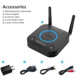1Mii Bluetooth Transmitter with Volume Control, AUX/RCA/Optical/Coaxial