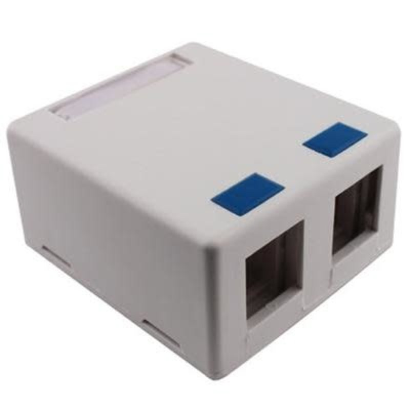 Dual Port Surface mount keystone block