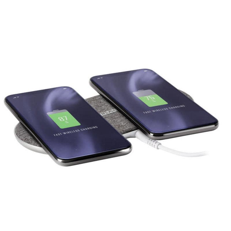 Wireless Chargepad Duo Qi 10W Grey