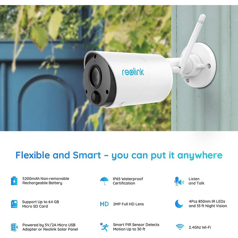 Argus Eco Outdoor Battery-powered WiFi Camera