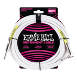 Ernie Ball Ernie Ball 20FT STRAIGHT / ANGLE INSTRUMENT CABLE - WHITE