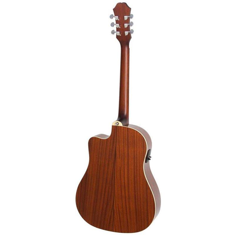 J-15EC Deluxe Elec/Acoustic Guitar w/Hardcase - AJ210CE Sunburst