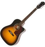 Epiphone J-15EC Deluxe Elec/Acoustic Guitar w/Hardcase - AJ210CE Sunburst
