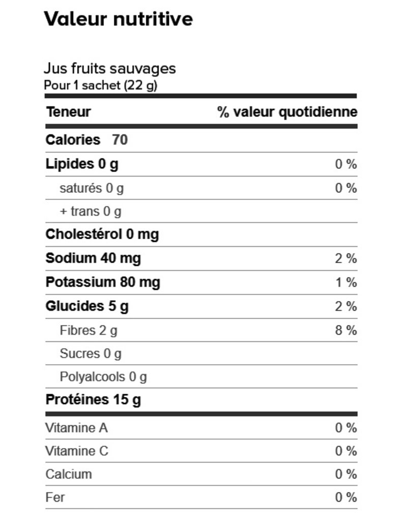 Nutri-15  Box (1 x 7) COLD BEVERAGE WILD FRUIT