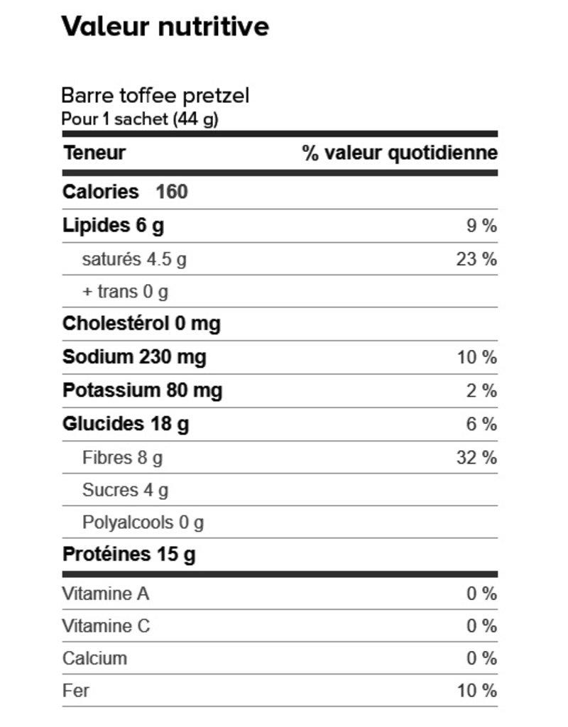 Proti-Bar Boite (1 x 7) BARRE TOFFEE SALÉ ET PRETZEL