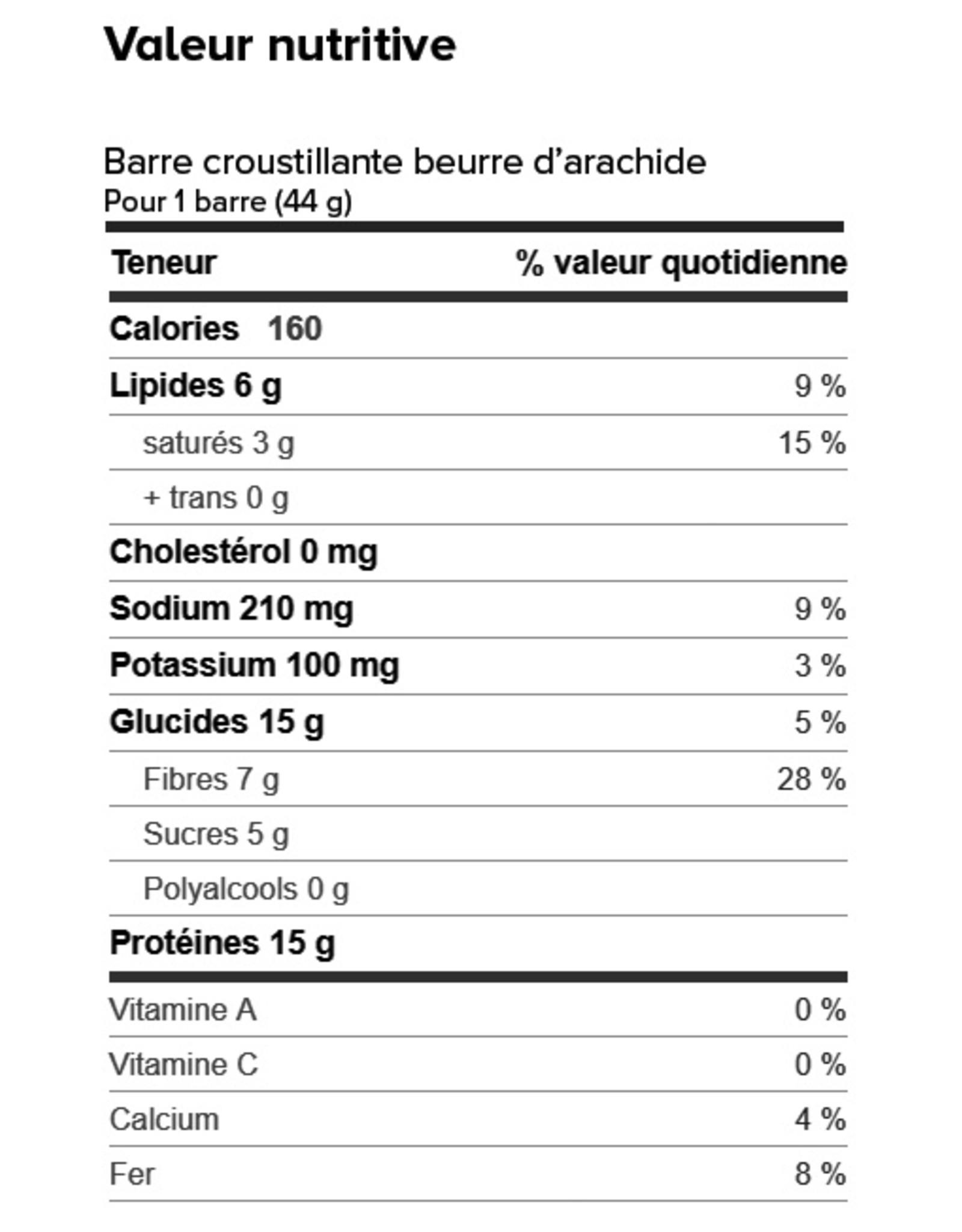Proti-Bar Boite (1 x 7) BARRE CROUSTILLANTE BEURRE D'ARACHIDE