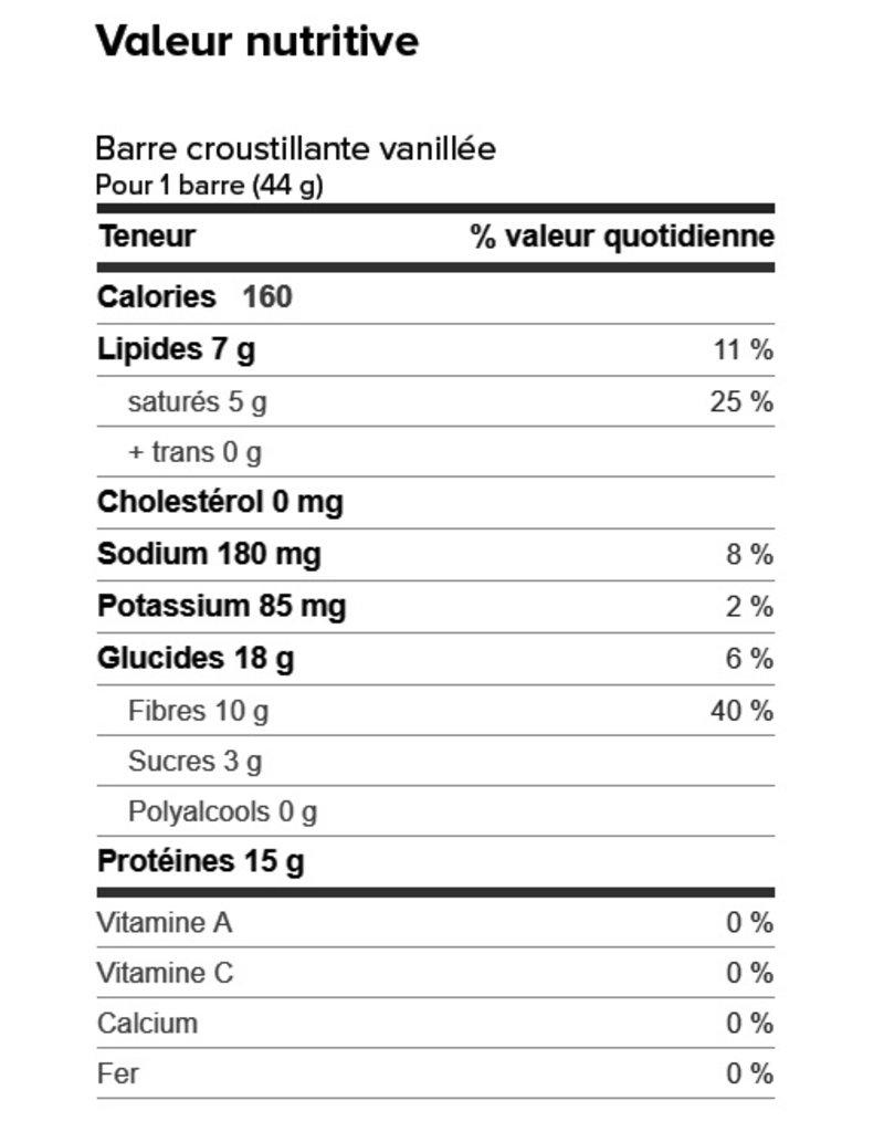 Proti-Bar Boite (1 x 7) BARRE CROUSTILLANTE VANILLÉE