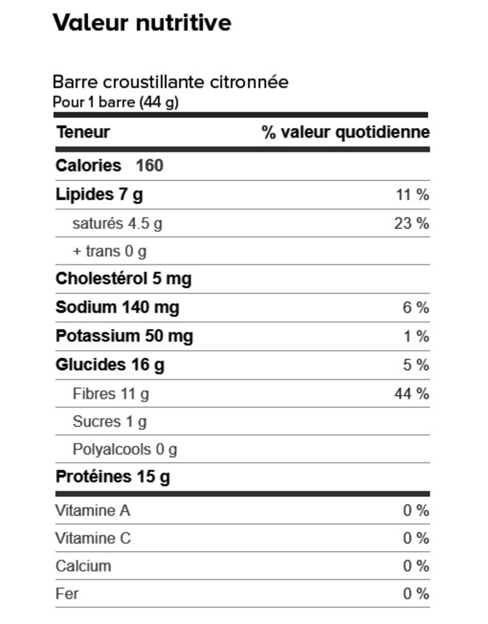 Proti-Bar Boite (1 x 7) BARRE CROUSTILLANTE CITRONNÉE