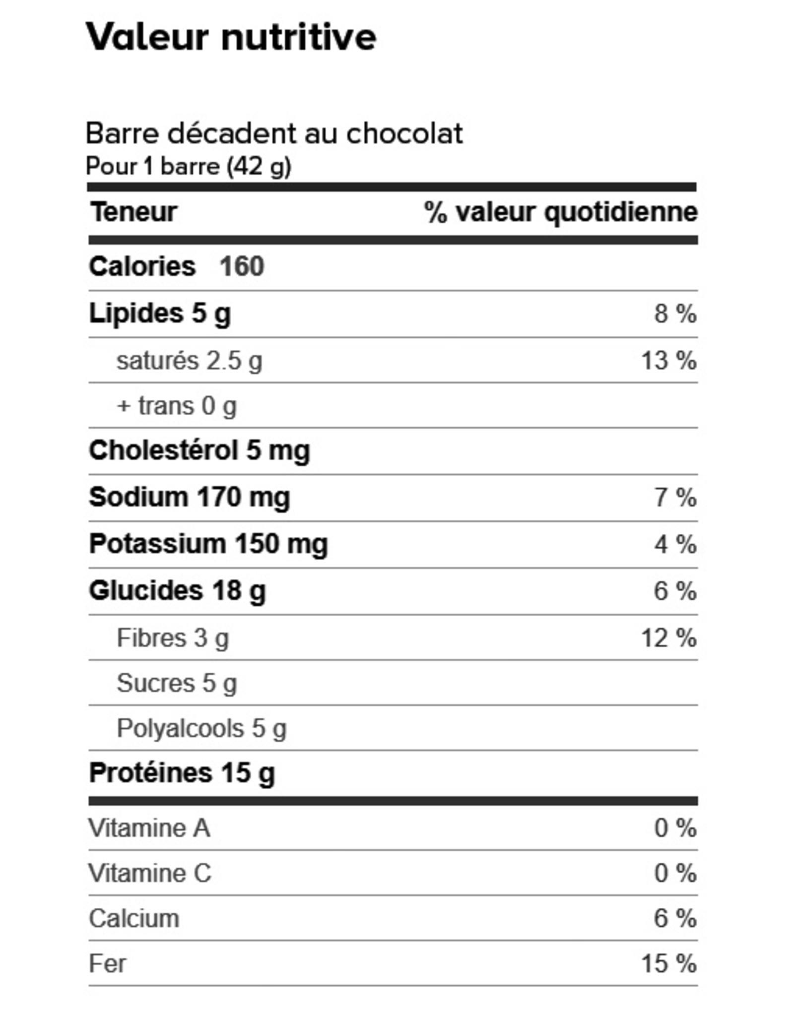 Proti-Bar Boite (1 x 7) BARRE DÉCADENT AU CHOCOLAT