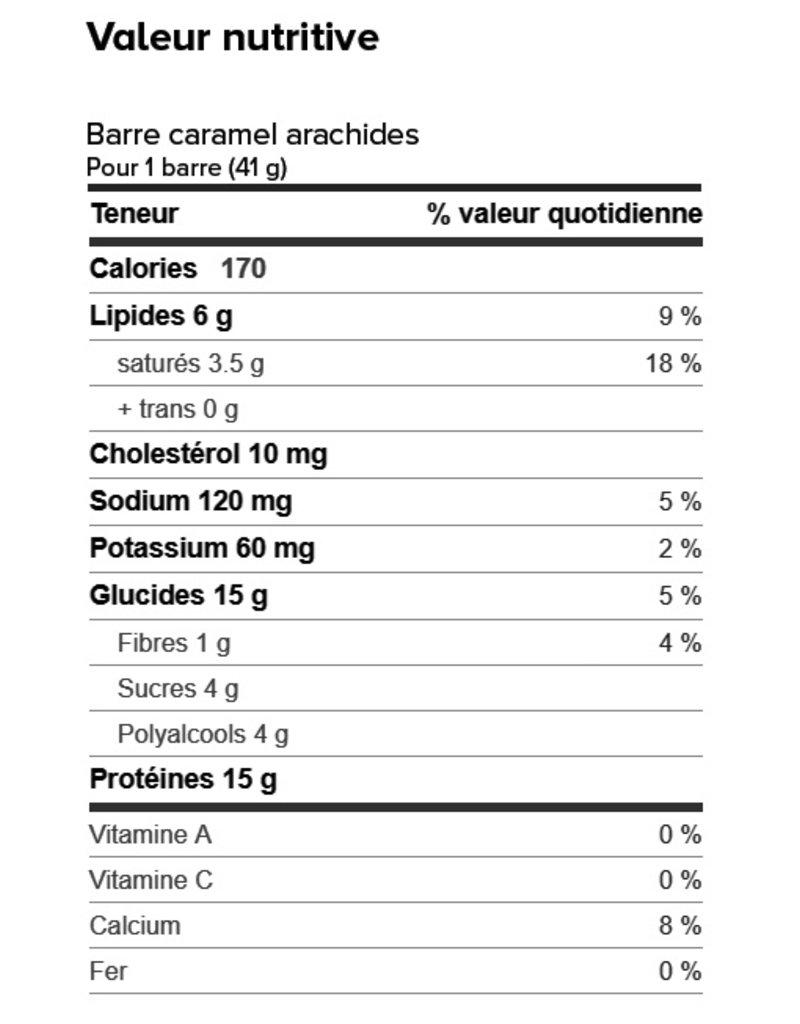 Proti-Bar Boite (1 x 7) BARRE CARAMEL ET ARACHIDES