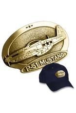 Casquette avec logo en cuivre du North American P-51 Mustang