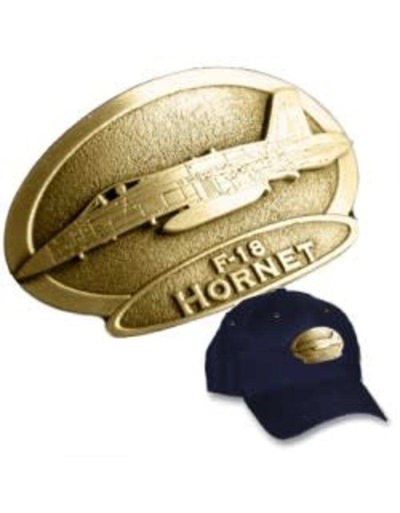 Casquette avec logo en cuivre du CF-18 Hornet