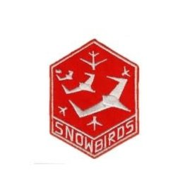 "Snowbirds Crest 3"" iron-on"