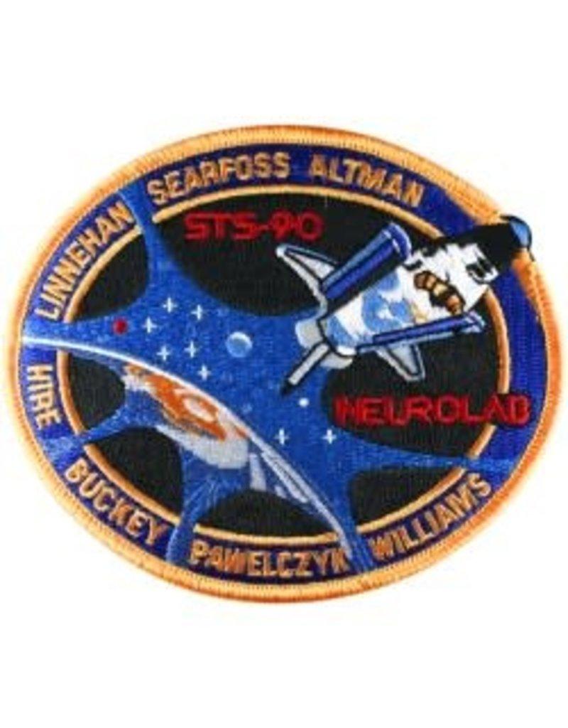 Écusson brodé de la mission STS-90 – Dave Williams