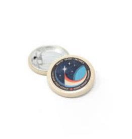 Bouton de la mission spatiale de David Saint-Jacques Expedition 58/59