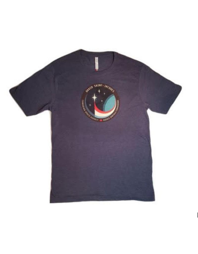 T-shirt pour homme avec L'écusson de la mission spatiale de David Saint-Jacques