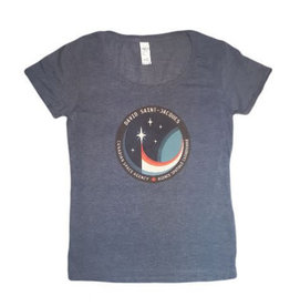T-shirt pour femmeL'écusson de la mission spatiale de David Saint-Jacques