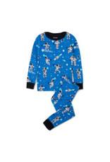 Pyjama en coton bio – Astronautes qui brillent dans le noir