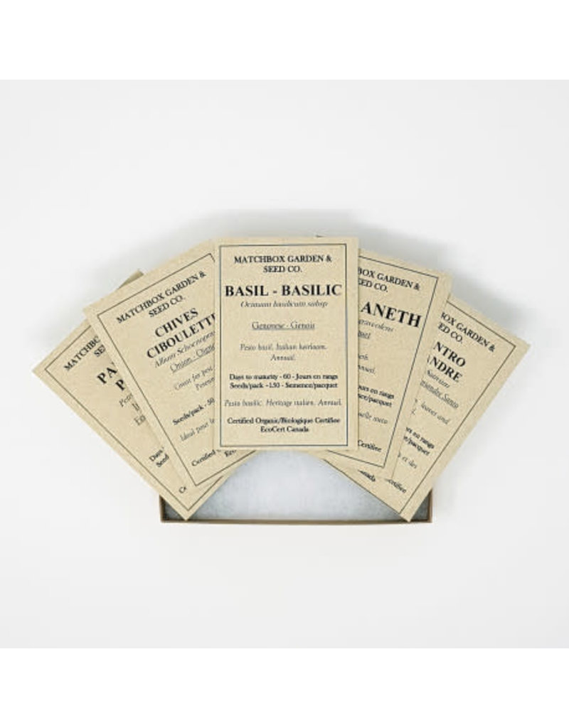 Collection de semences d'héritage - Jardin D'Herbs