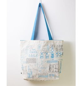 Chemistry Lab Canvas Shoulder Tote