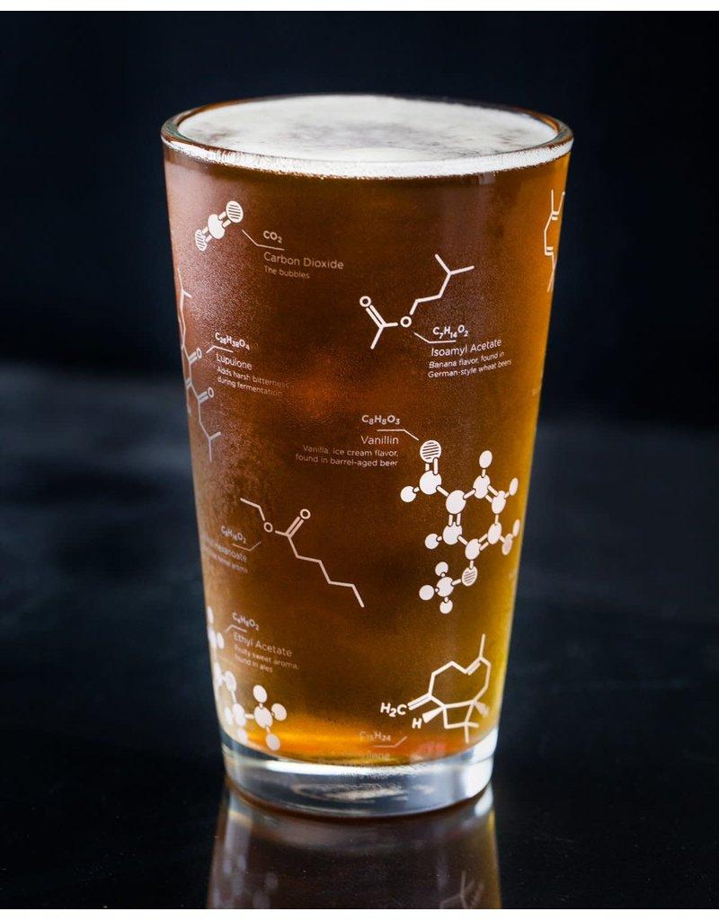 Le science de bière verres à pinte