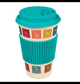 Periodic table bamboo travel mug