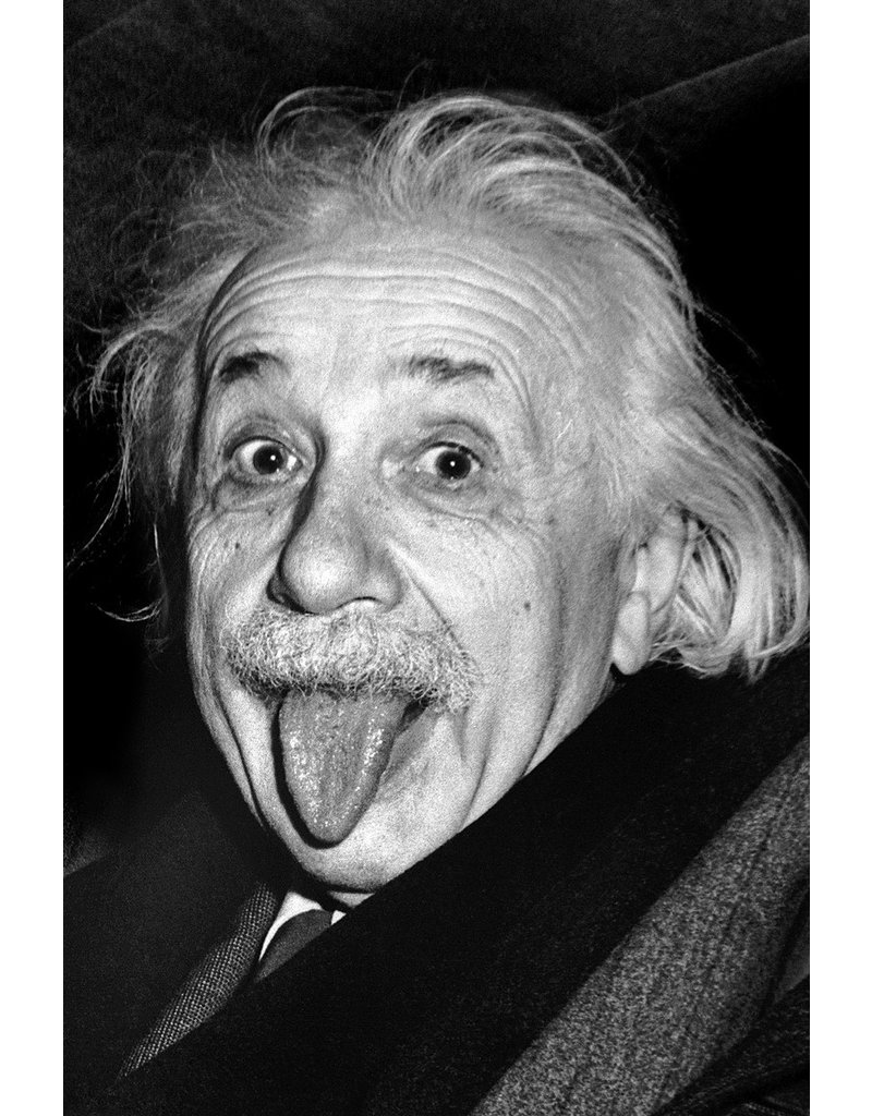 Einstein Tongue Poster